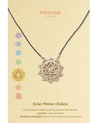 TOPSHOP - Metallic Solar Plexus Chakra Ditsy Necklace - Lyst