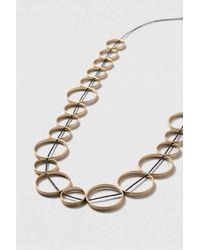 TOPSHOP | Metallic Circle Linked Necklace | Lyst