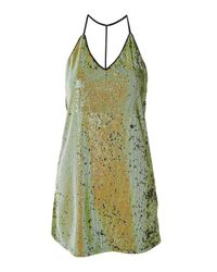 Oh My Love - Green T-bar Sequin Slip Dress By - Lyst