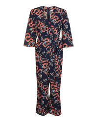 Glamorous - Blue Snake Print Jumpsuit By - Lyst