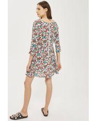 Glamorous   Blue Printed Skater Dress By   Lyst