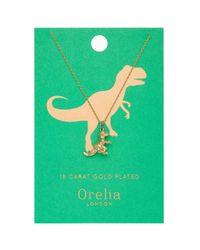 Orelia - Metallic Lucky Dino Ditsy Necklace By - Lyst