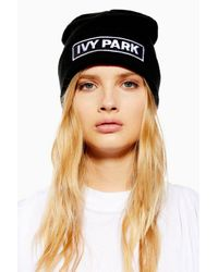Ivy Park - Black Badge Logo Beanie - Lyst