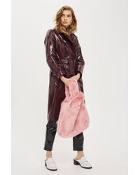 TOPSHOP | Pink Dolly Faux Fur Tote Bag | Lyst
