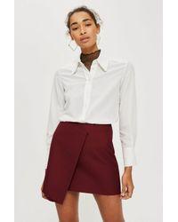 TOPSHOP - Multicolor Bonded Raw Edge Skirt - Lyst