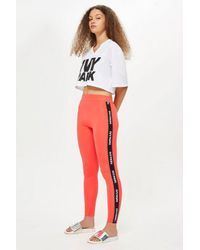 4965590a387e Ivy Park Logo Elastic Leggings By in Red - Lyst