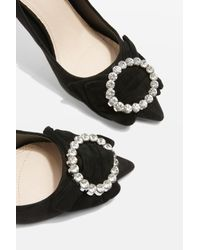 TOPSHOP - Black Glamorous Bow Courts - Lyst