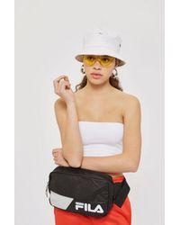 TOPSHOP - White Black Hale Waist Pack By Fila - Lyst