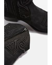 TOPSHOP - Black Apple Western Boots - Lyst