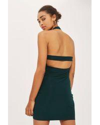 Love Green Halter Neck Bodycon Dress By