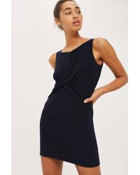 Love - Blue Twist Front Dress By - Lyst