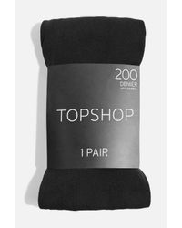 TOPSHOP - Black 200 Denier Tights - Lyst