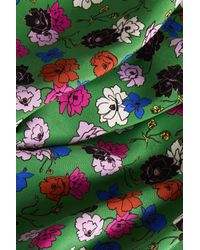 TOPSHOP - Green Floral Asymmetric Dress By Boutique - Lyst