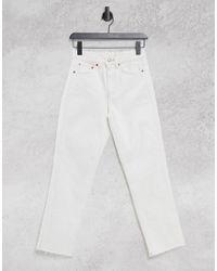 TOPSHOP White Straight Leg Jeans