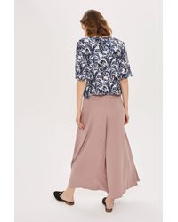 TOPSHOP | Multicolor Side Split Palazzo Trousers | Lyst