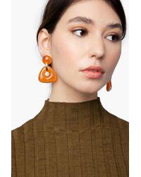 TOPSHOP Pink resin Link Drop Earrings
