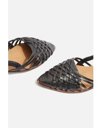 TOPSHOP - Black Abstract Woven Shoes - Lyst