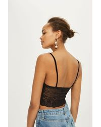TOPSHOP Black Lace Stud Bralet
