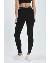 TOPSHOP - Black Branded Leggings - Lyst