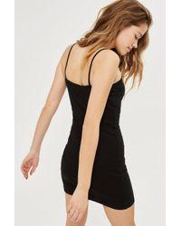 TOPSHOP - Black Petite Mini Bodycon Dress - Lyst