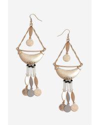 TOPSHOP - Metallic Mobile Drop Earrings - Lyst