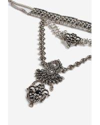 TOPSHOP - Black Tiara Choker Necklace - Lyst