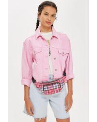 TOPSHOP Pink Check Bumbag