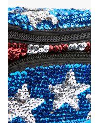 TOPSHOP Blue Sequin Bumbag