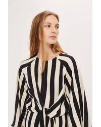 TOPSHOP - Black Maternity Humbug Stripe Dress - Lyst