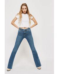 TOPSHOP Id Blue Flared Jamie Jeans