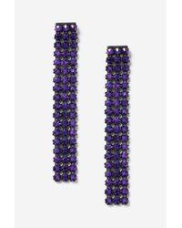 TOPSHOP | Purple Stone Drop Earrings | Lyst
