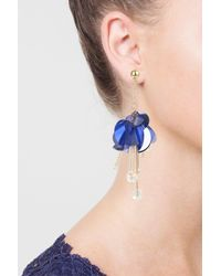 TOPSHOP - Purple Sequin Facet Drop Earrings - Lyst
