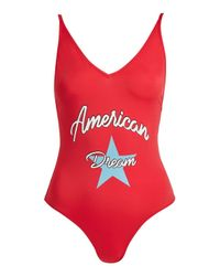TOPSHOP Red American Dream Swimsuit