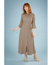 Closet 70s Madelyn A-line Dress in het Multicolor