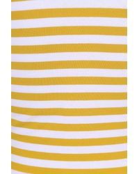 Collectif Clothing 50s Twinnie Striped Top in het Yellow