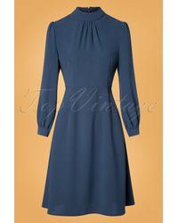 Banned Retro 50s Evening Ella Dress in het Blue