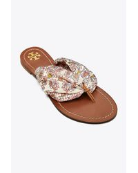 Tory Burch - Multicolor Carson Flat Thong Sandal - Lyst