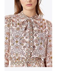 Tory Burch - Pink Kia Bow Blouse - Lyst