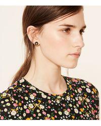 Tory Burch Metallic Crystal Pearl Stud Earring