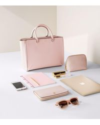 Tory Burch - Pink Robinson Large Zip Tote - Lyst