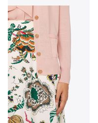 Tory Burch Pink Madeline Cardigan