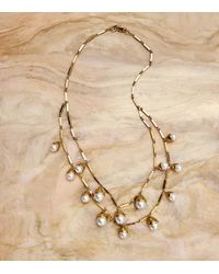 Tory Burch - Metallic Pearl Bud Multi-strand Necklace - Lyst