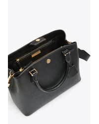 Tory Burch Black Robinson Triple-compartment Tote