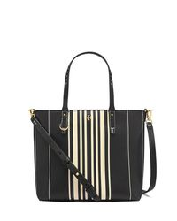 Tory Burch | Black Kerrington Small Square Tote | Lyst
