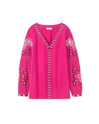 Tory Burch Pink Therese Tunic
