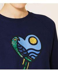 Tory Burch - Blue Noah Sweatshirt - Lyst