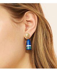 Tory Burch - Blue Buoy Drop Earring - Lyst