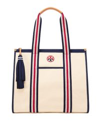 Tory Burch | Natural Embroidered-t Tote | Lyst