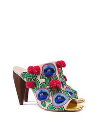 Tory Burch | Multicolor Ellis Embroidered Mule | Lyst