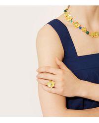 Tory Burch - Metallic Flower Petal Ring - Lyst